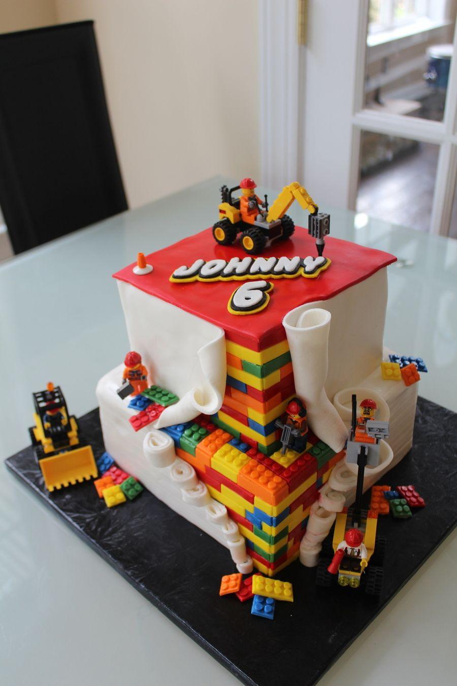 Lego Construction On Cake Central Lego Cakes Pinterest