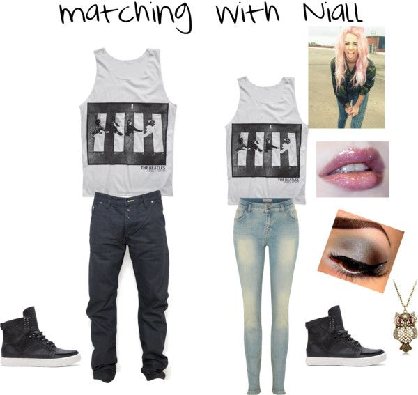 """Matching with Niall"" by myirishmanniall ❤ liked on Polyvore"