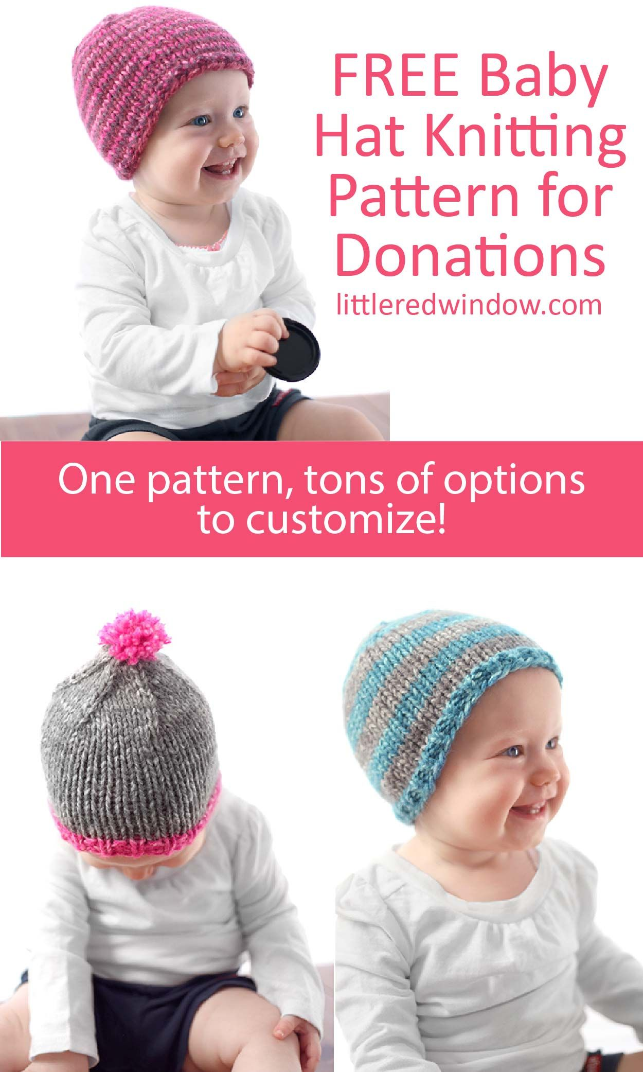 6d56ec46274 The Do-Gooder Free Baby Hat knitting pattern has a free pdf download