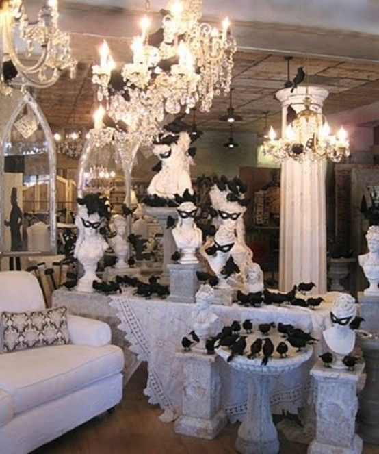 50 ideas for elegant black and white halloween decor - Elegant Halloween Decor