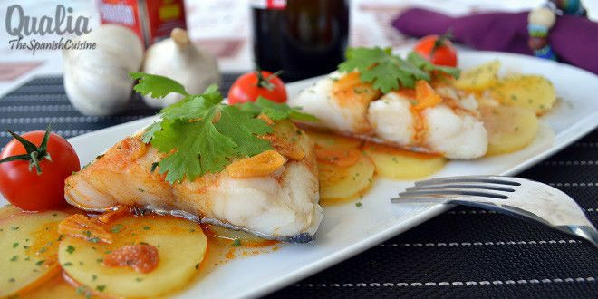 Traditional Cod Fish with Spanish Paprika Recipe! Discover this yummy and easy Tapas recipe with cod fish and the famous smoky sweet Spanish paprika.
