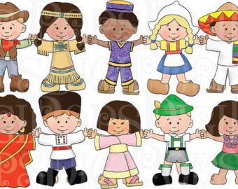 Children Around the World Digital Clip Art Set -Personal and ...