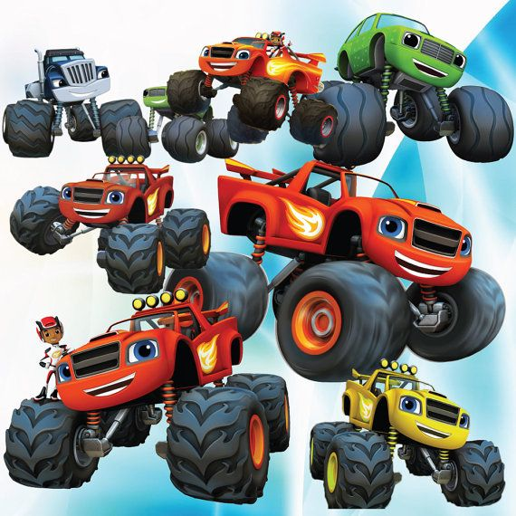 Buy2get1forfree 25 Blaze And The Monster Machines Clipart Cartoon Clipart Printable Digital Clipart Ins Monster Truck Coloring Pages Clip Art Cartoon Clip Art