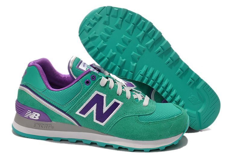 new balance 574 purple green