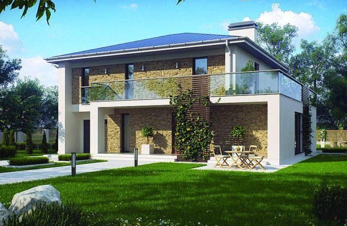 Casa de dos plantas con porche buscar con google casas for Imagenes de porches de casas