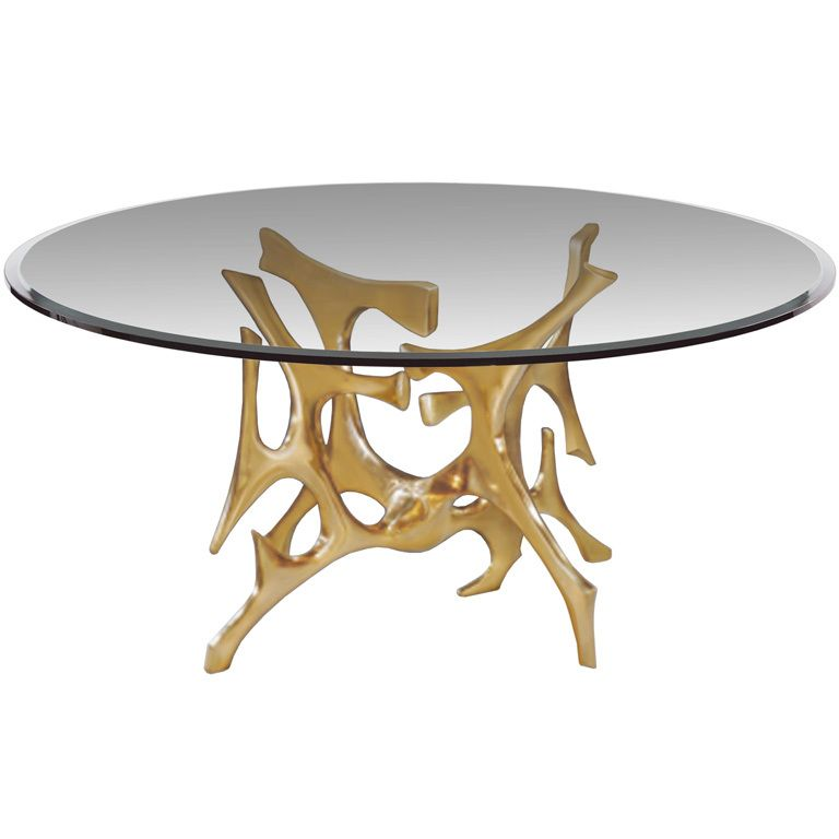 1stdibs Signed Fred Brouard Abstract Gilt Bronze Dining Table