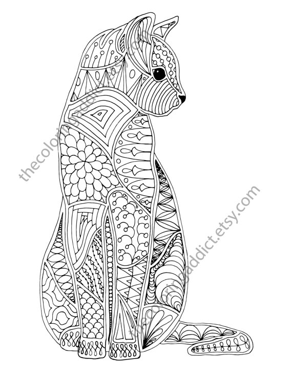 Pin On Cats Dogs Colouring Pages Zentangles In 2021 Cat Coloring Book Cat Coloring Page Kitten Coloring Book