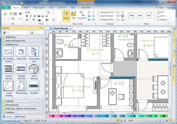 28 Home Drawing Software Architecture Floor Plan Used With Home Plan Software Home Design Software Floor Plans
