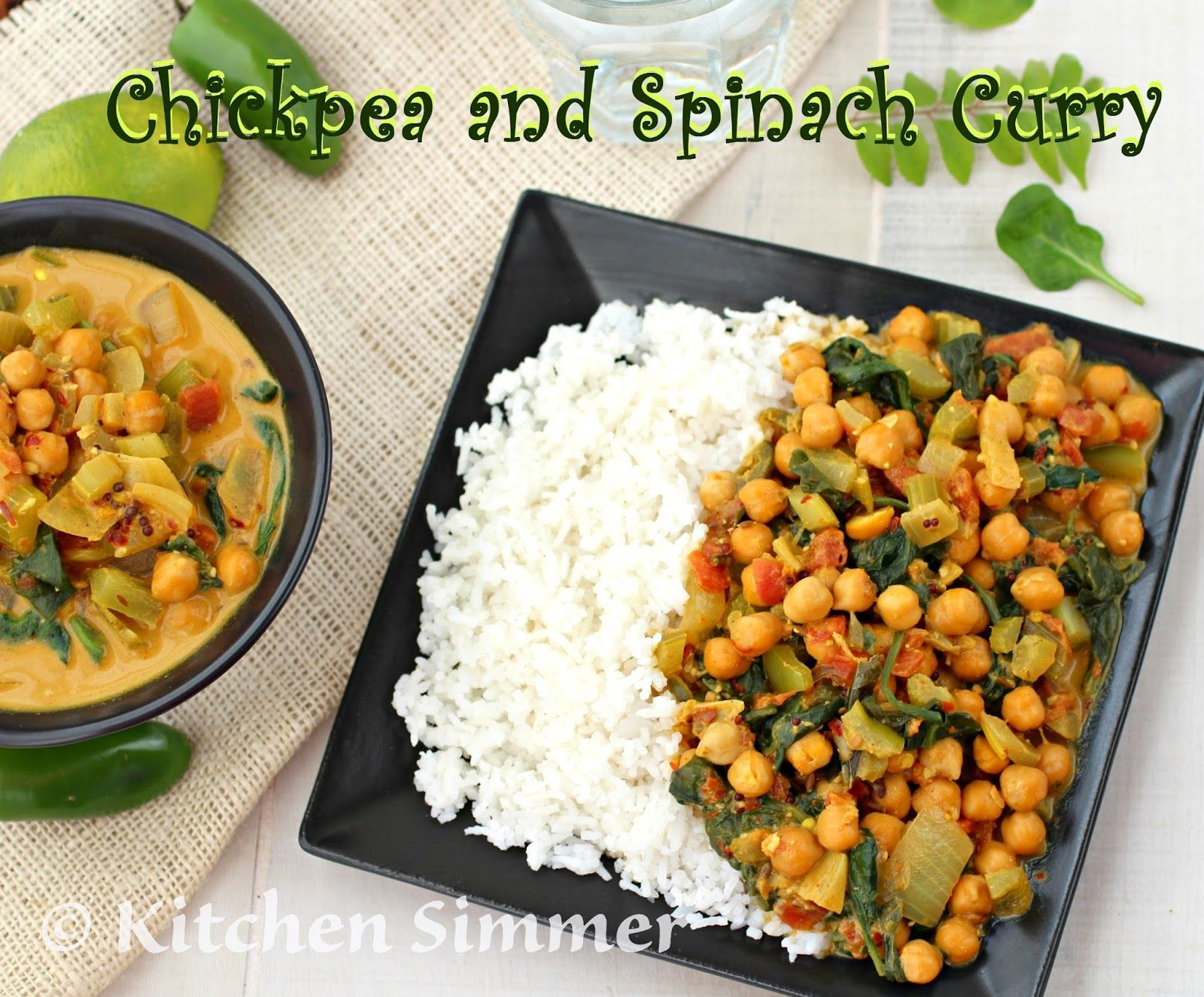 Kitchen Simmer: Vegan Chickpea and Spinach Curry