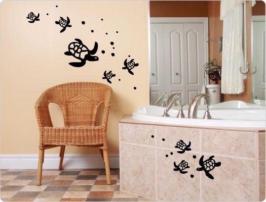 Wandtattoo Schildkroete Bad  Beauty Wandaufkleber Pinterest - Wandtattoos Fürs Badezimmer