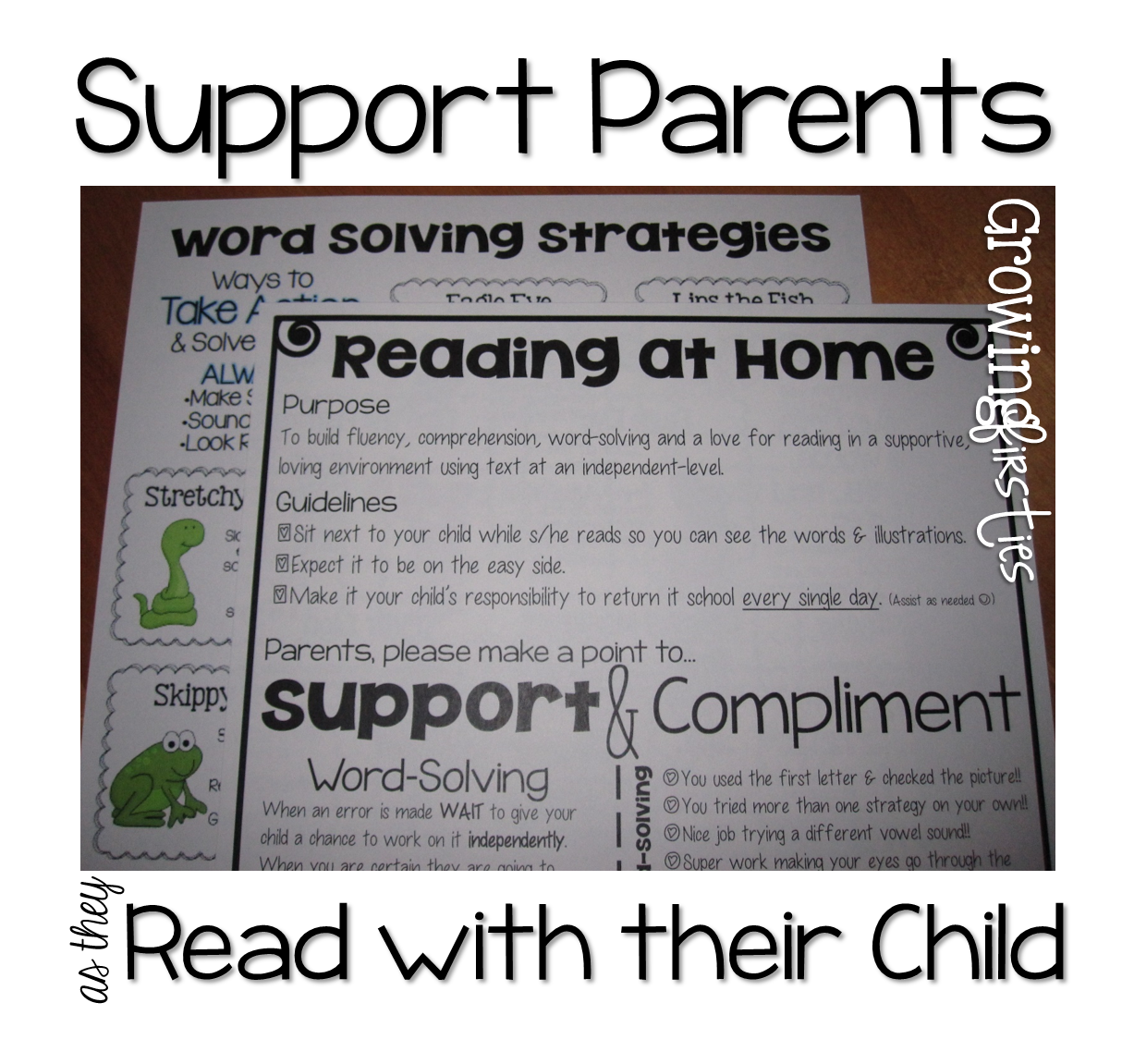 Parent Support For At Home Reading Amp Back To School Parent Input Form Freebie