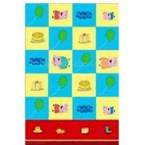 Party Time Celebrations  - Peppa Pig Party Plastic Tablecover, $4.95 (http://www.partytimecelebrations.com.au/peppa-pig-party-plastic-tablecover/)