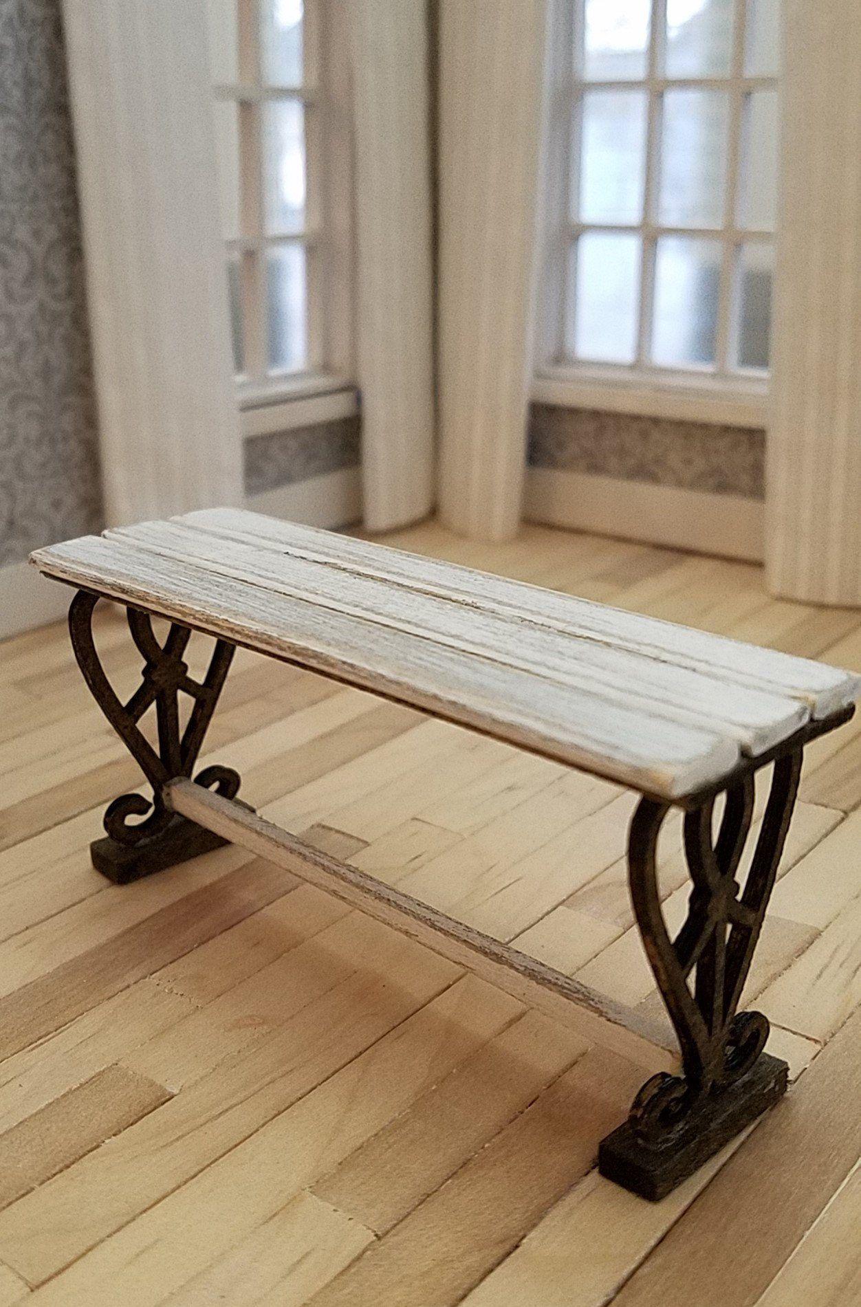 1:12 Dollhouse Furniture Mini Wooden Bench /& Street Lamp Garden Accessories