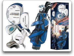 Amazon Com Intech Lancer Junior Golf Set Left Handed Age 4 To 7 17 5 Degree Driver 4 5 Hybrid Iron Wide Sole 7 Golf Set Junior Golf Clubs Golf Club Sets