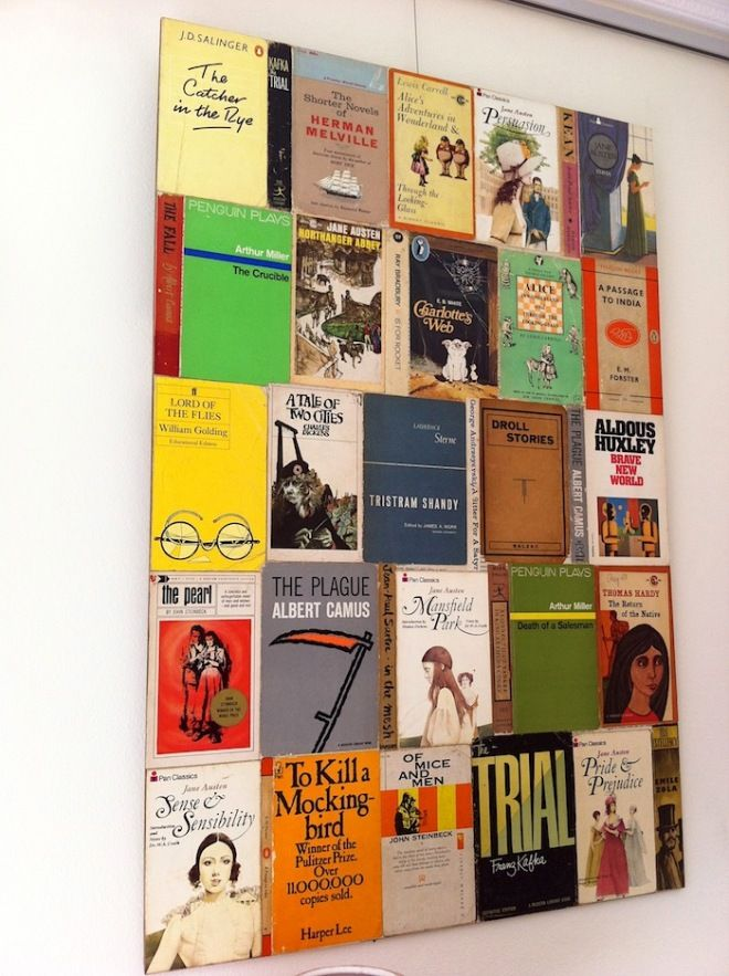 Crafts Using Old Book Covers : The book as art elevated but desanctified covers