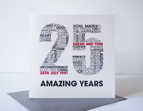 Silver Wedding Anniversary Card Personalised 25th Wedding Etsy Wedding Anniversary Cards Silver Wedding Anniversary Anniversary Cards