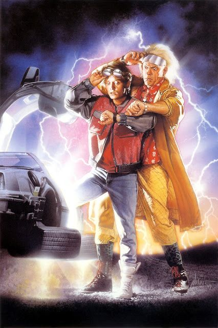 Movie Poster Art Back To The Future Part Ii 1989 With Images