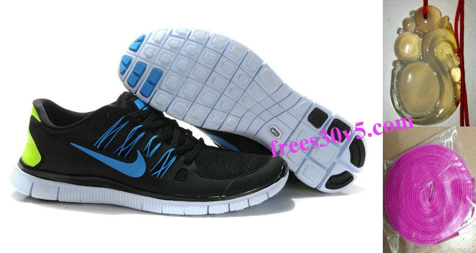 promo code cf787 18063 Mens Nike Free 5.0 Black Blue Shoes - Click Image to Close