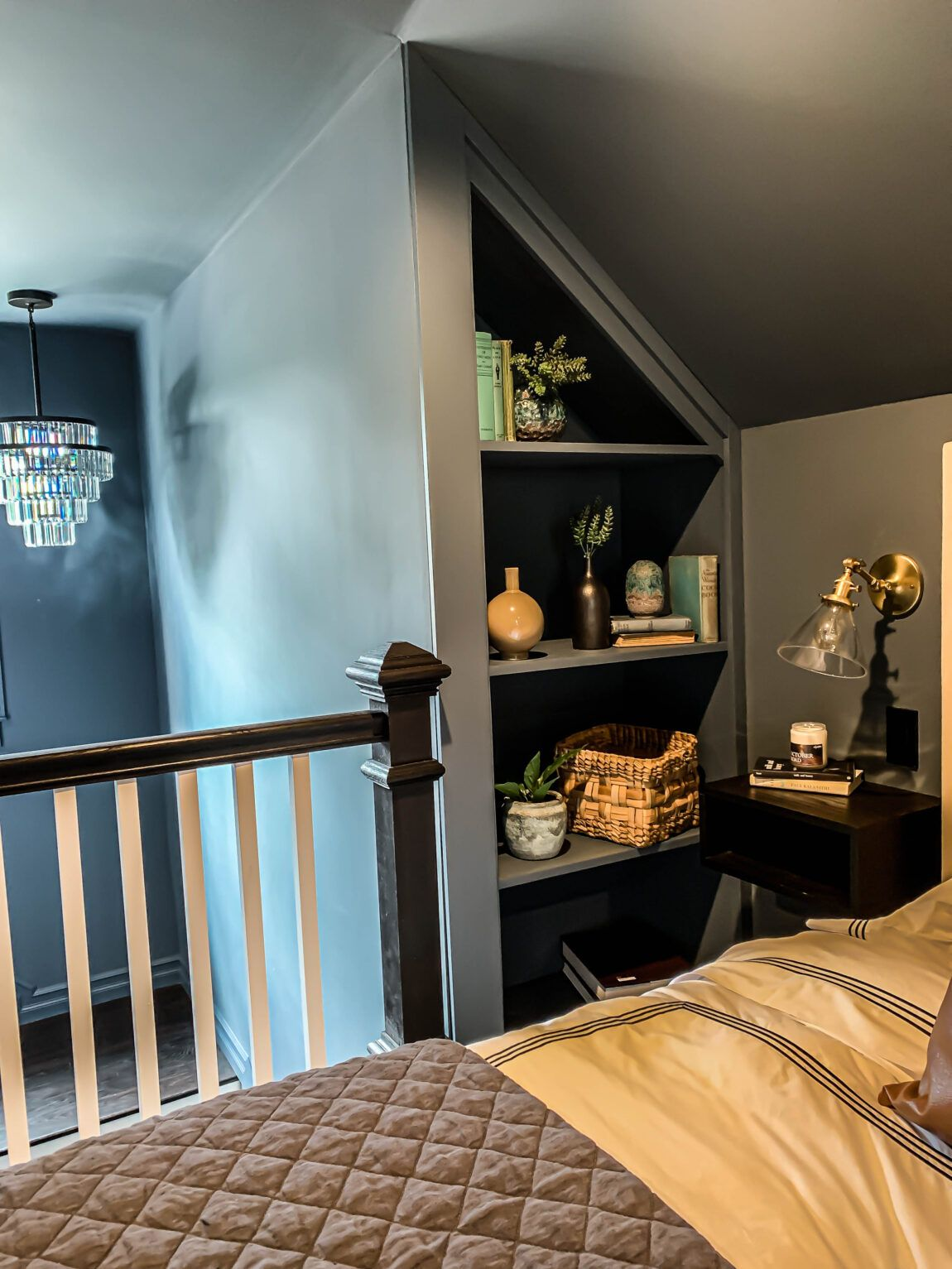 5 Keys To Creating A Dark Modern Moody Space Clark Aldine In 2020 Eclectic Bedroom Home Decor Bedroom Slanted Walls