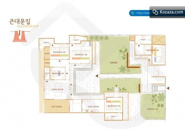 hanok floor plan 1 | houses | pinterest | house