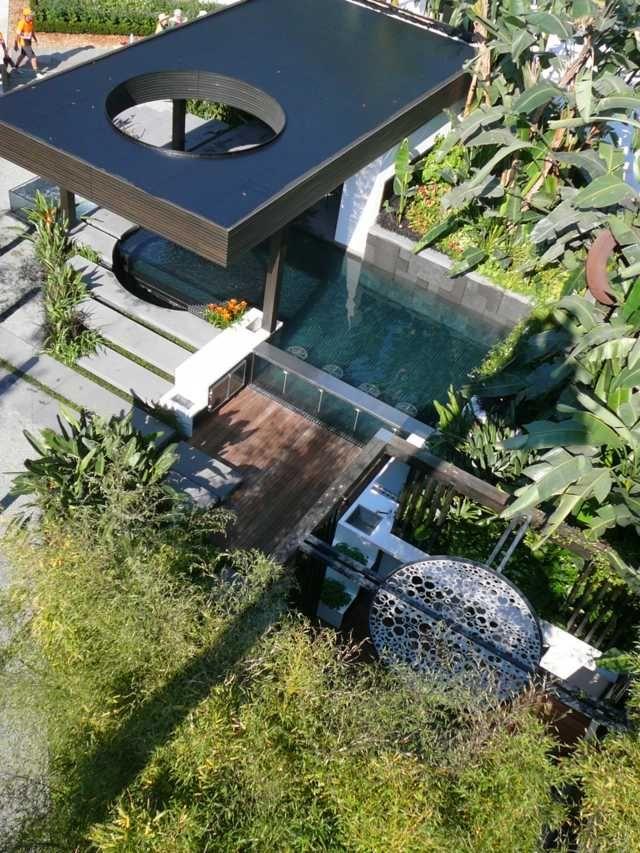 Pool Sichtschutz Dach Hohe Mehrjährige Stauden Garten | Sulaiman's ... Garten Mit Pool Gestaltung Tipps