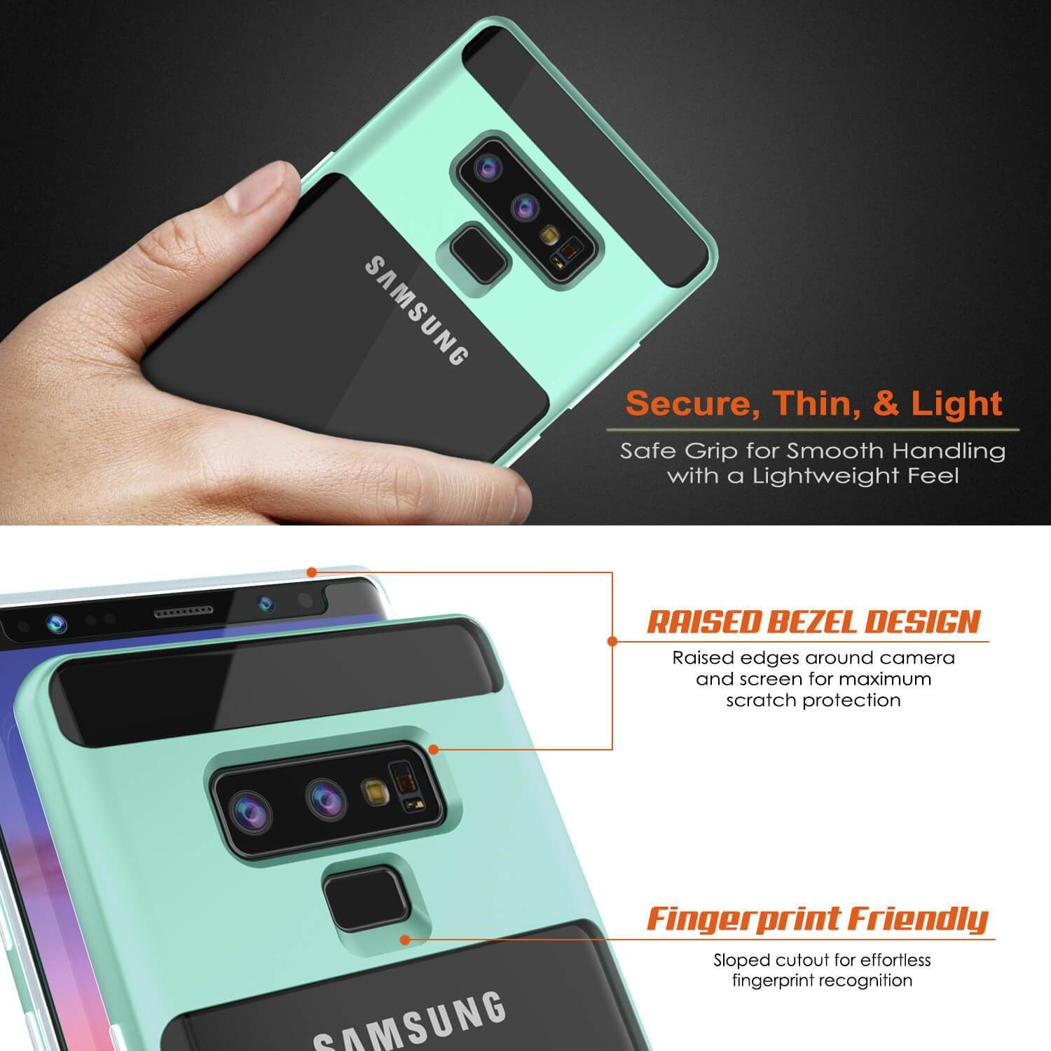 Galaxy Note 9 Lucid 3 0 Punkcase Armor Cover W Integrated Kickstand And Screen Protector Teal Galaxy Note Galaxy Note 10 Galaxy Note 9