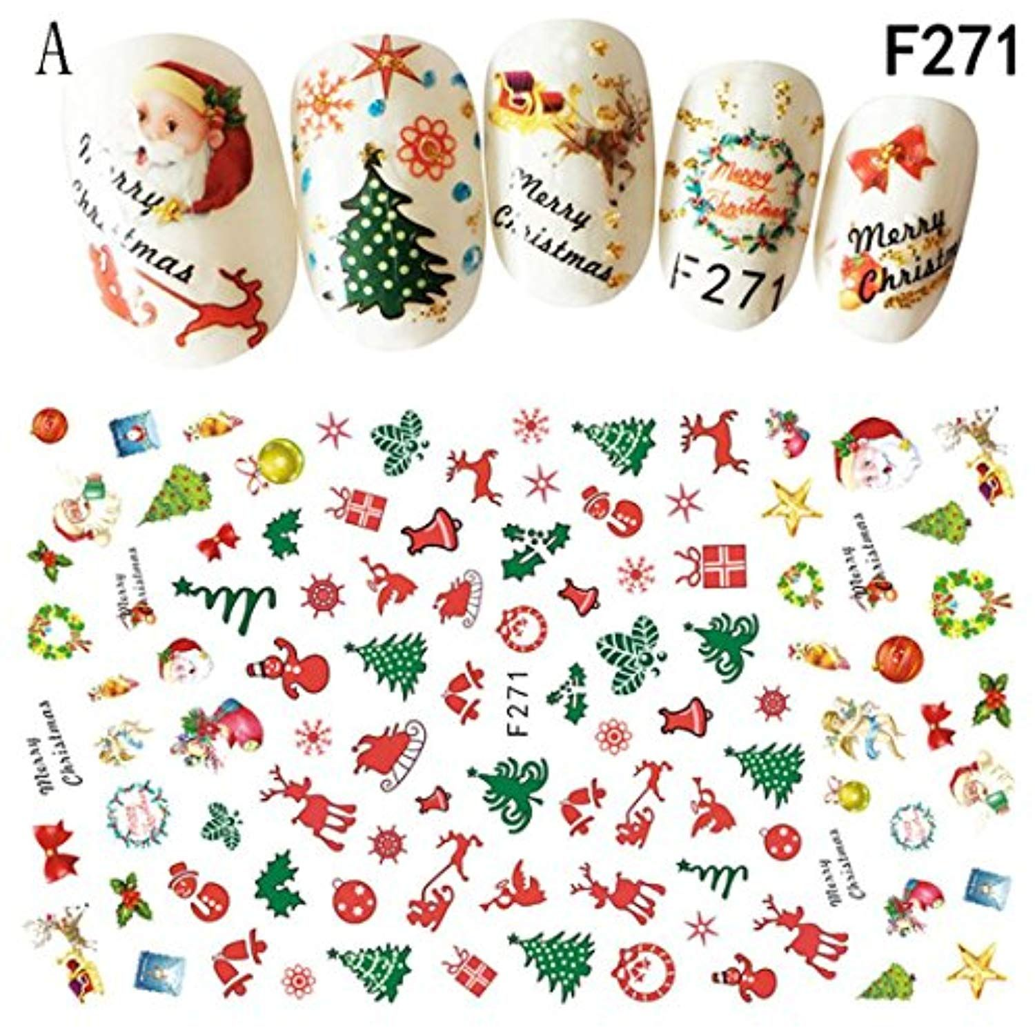 3d Nail Art Stickers Snowflakes Stickersdecals