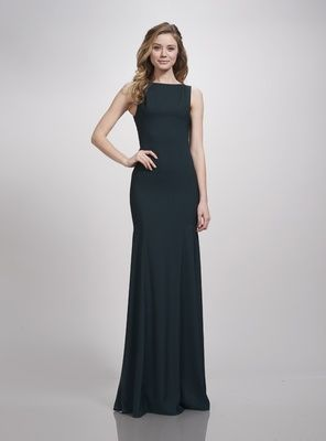 717da799274 THEIA Bridesmaids Spring 2018 fitted bridesmaid gown flared skirt boat  neckline hunter