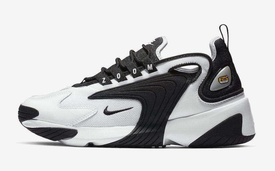 low priced 8b6d1 93b57 Nike Zoom 2K Black White AO0354-100 Release Date