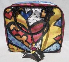 c9d5a956f77f Romero Britto Satin HEART Cosmetic TOTE Bag Travel | Amazing Art ...