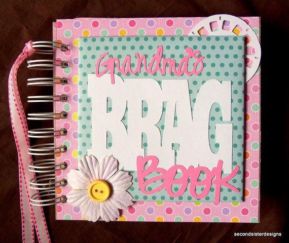 Mothers Day Gift Grandmas Brag Book Photo Album Scrapbook Idea By