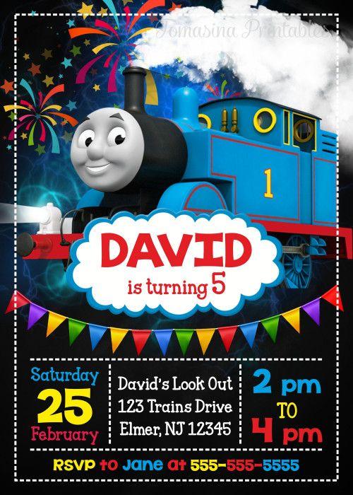Thomas the Train Birthday Invitation Printable Thomas Invite