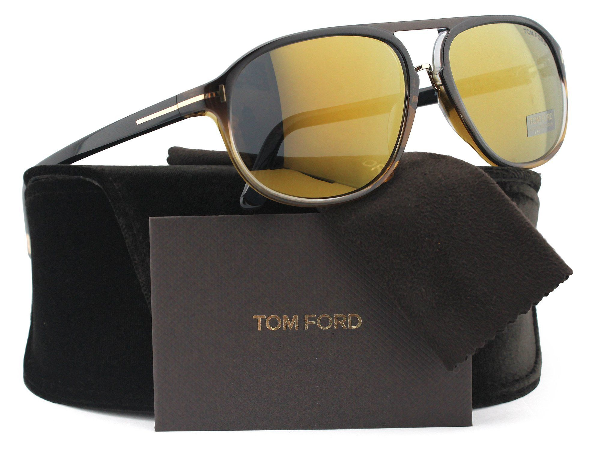 8002f27043385 TOM FORD FT0447 Jacob Sunglasses Black Gradient w Brown Mirror (05C) TF 447  60mm Authentic. Model  FT0447 S Jacob. Color Code  (05C) Black Gradient  w Brown ...