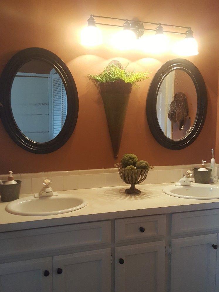 Framed Bathroom Mirror Image By Tonya Nehls Phillips On Before Bathroom Mirror Decor