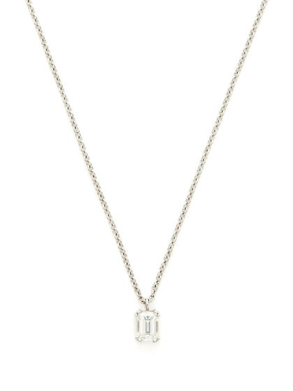 0.75 Total Ct. Emerald Cut Diamond Pendant Necklace by SimplexDiam on Gilt.com