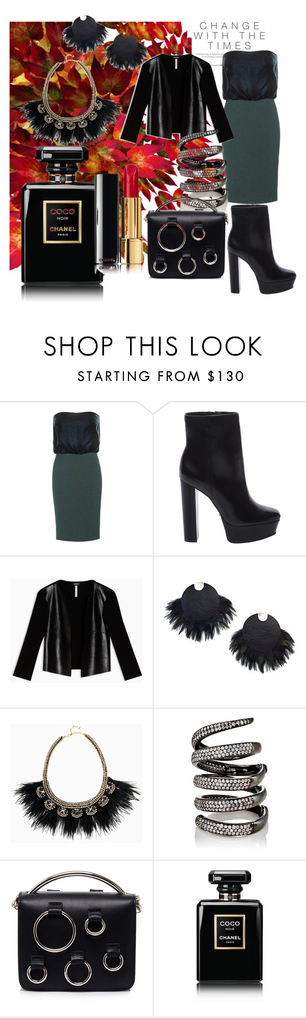 """""""changes"""" by sofiacalo ❤ liked on Polyvore featuring Tom Ford, Schutz, Max&Co., Stella & Dot, Fallon, MSGM and Chanel"""