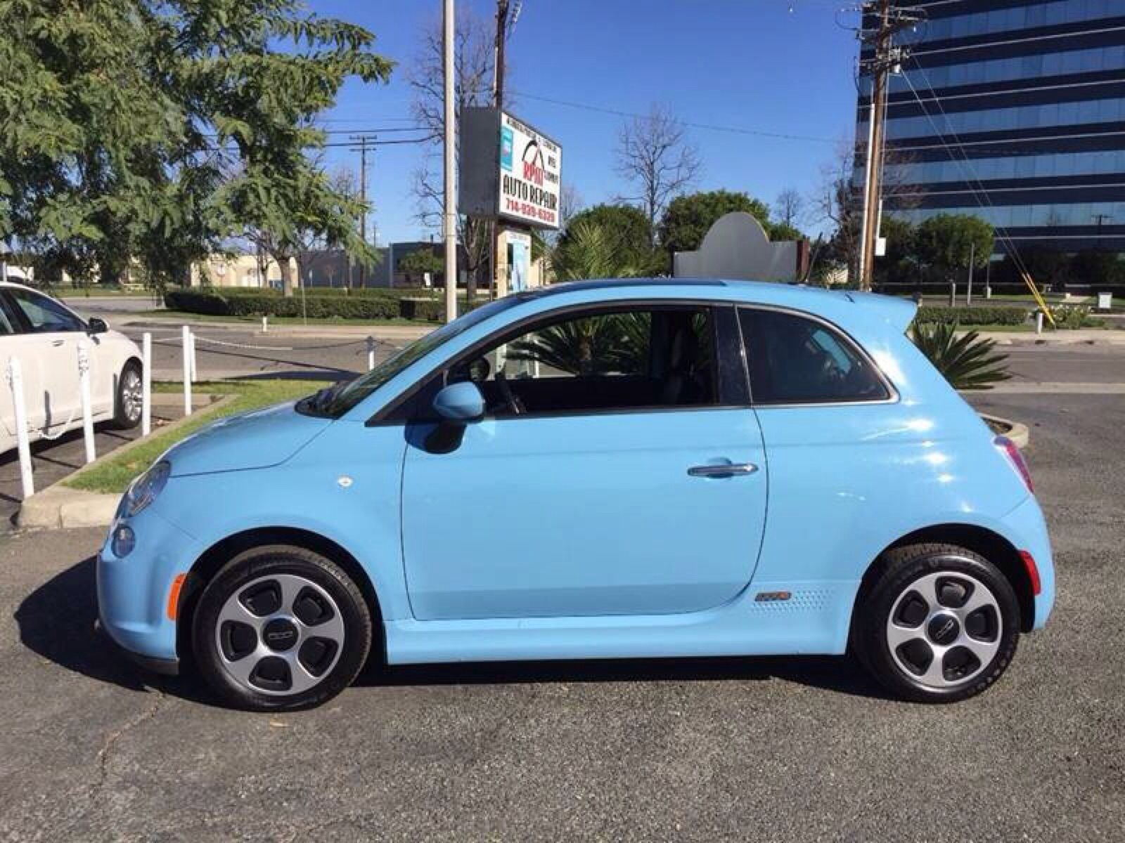 Fiat 500e Electric With Moonroof In Celeste Blue With Images
