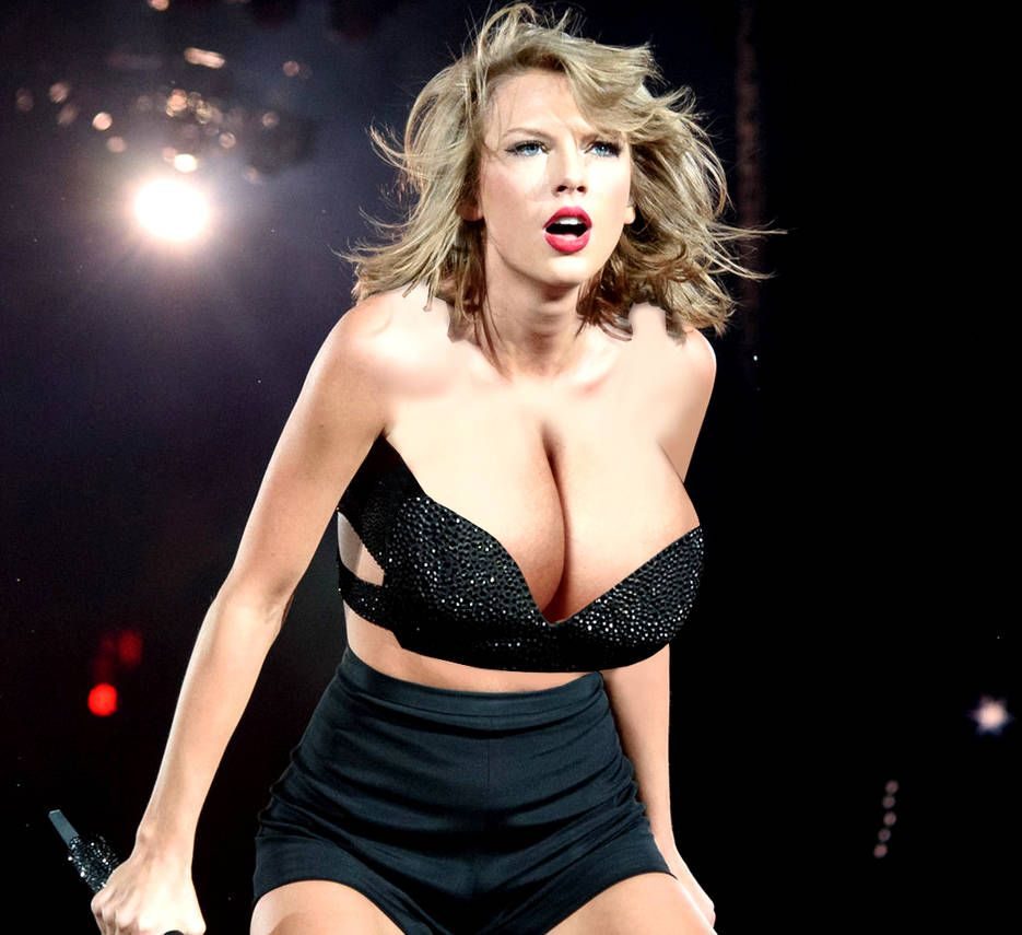 Taylor Swift With Bigger Breasts 5 By Darkonparker On Deviantart Taylor Swift Selena Gomez Miley Cyrus Shiny Dresses