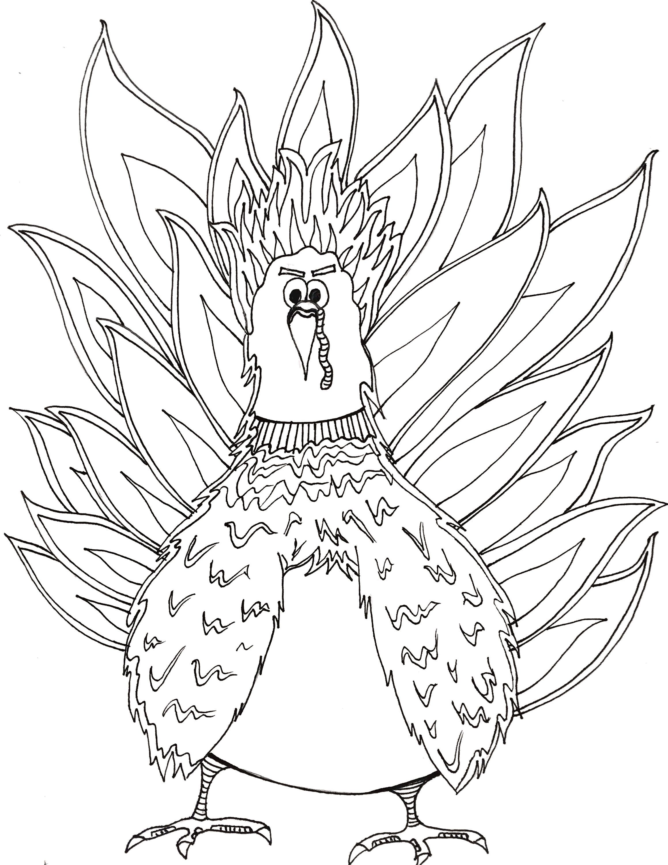 Thanksgiving Turkey Coloring Page Turkey coloring pages
