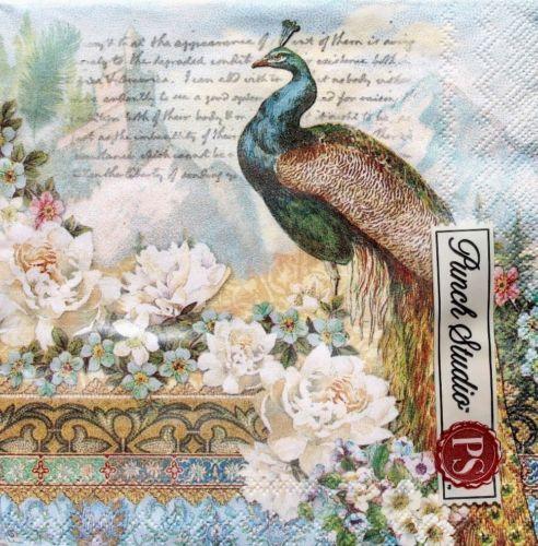 Peacock art nouveau poster print