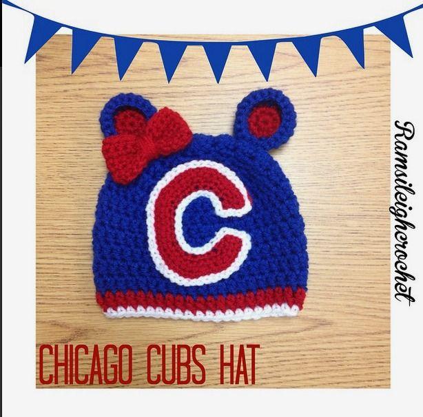 Newborn Chicago Cubs Hat by Ramsileigh Crochet   Crochet   Pinterest ...