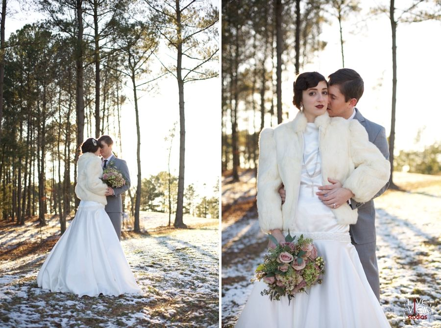Vintage Winter Wedding Photography 20s Inspired