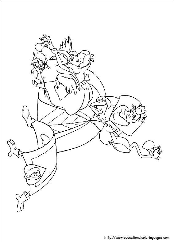 Alice in Wonderland Coloring Pages free For Kids | DISNEY COLORING ...