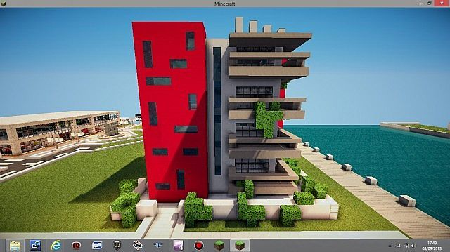 Modern Apartment Building Minecraft Project Minecraft