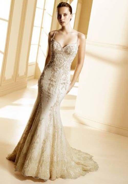 Wedding Dresses A Line Wedding Dresses Gold Lace Wedding Dress Long Sleeve Bridal Gown Gorgeous Wedding Dresses Pd190102 Gold Lace Wedding Dress Gowns Indian Wedding Dress