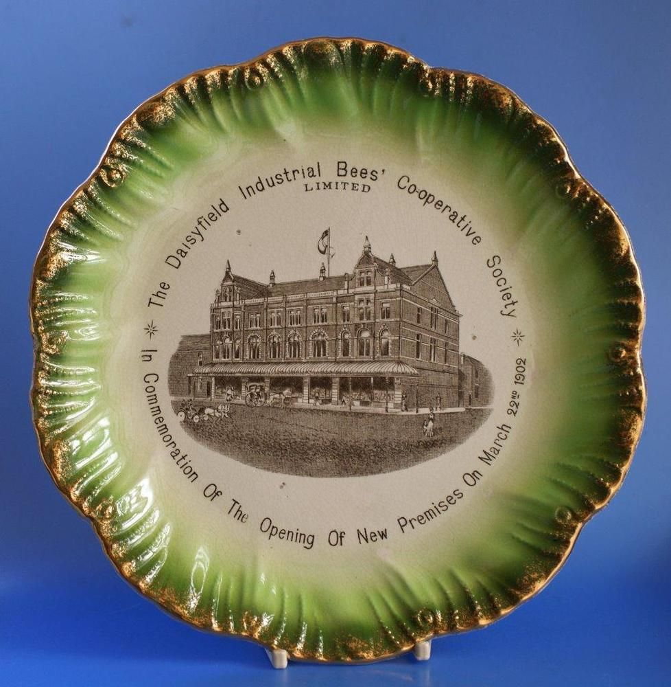 Co Op Cooperative Wholesale Society Cws Advertising Plate Daisyfield Blackburn Christmas Plates Art Nouveau Pottery