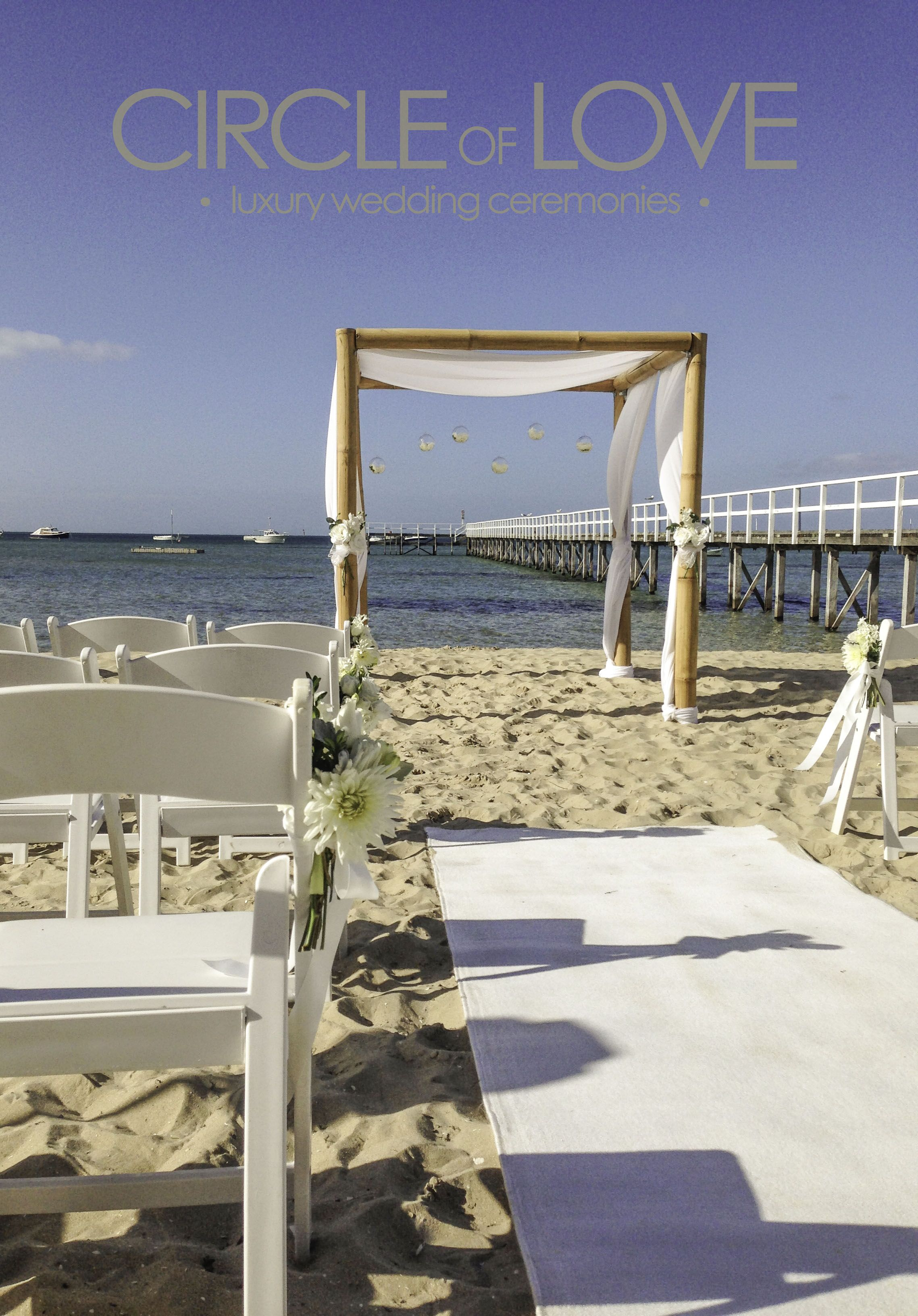 Soro Beach Wedding Www Circleofloveweddings Au Melbourne