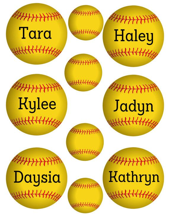 graphic relating to Printable Softball named BASEALL tags or labels 3 inch, Sick insert your words then well prepared