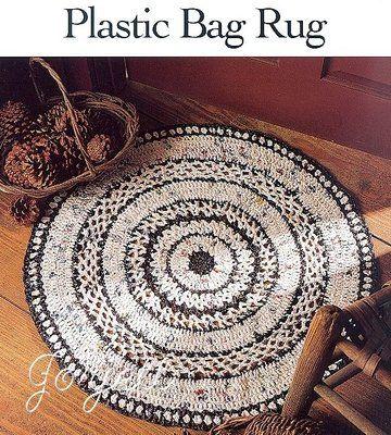 Details About Plastic Bag Rug Round Rug Crochet Pattern Leaflet