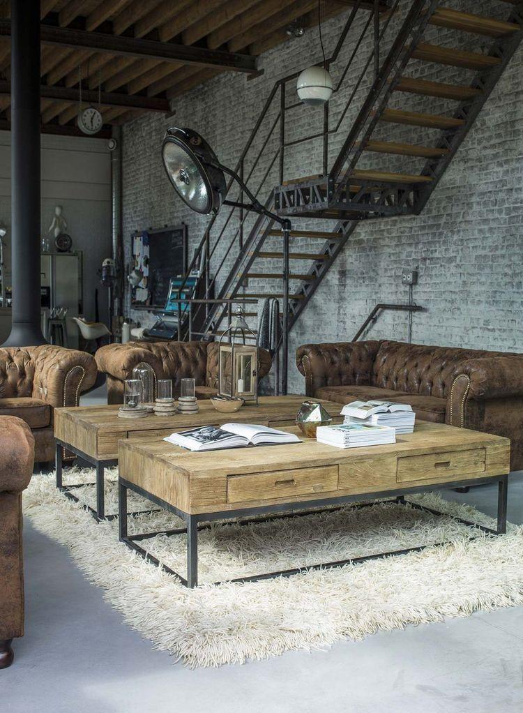 Qui tutto perfetto i divani chesterfield la scala la for Appartamento design industriale